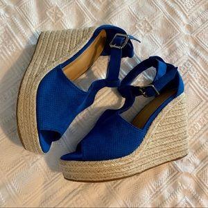 Royal blue espadrilles